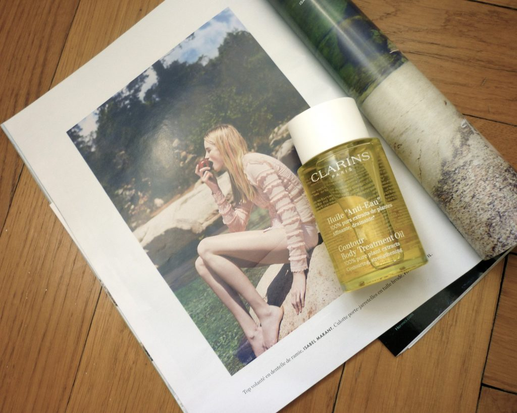huile anti-eau clarins 1