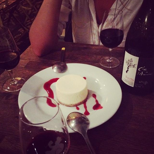 Cheesecake au #barav #republique #paris #lebarav #baravin