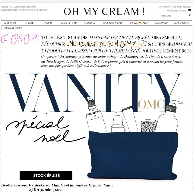 Tellement hâte de connaître le contenu du vanity @ohmycream !!! Pour celles qui l'ont acheté, quels sont vos pronostics ? Qu'aimeriez vous trouver dans ce #vanityomc ? ??? #ohmycream