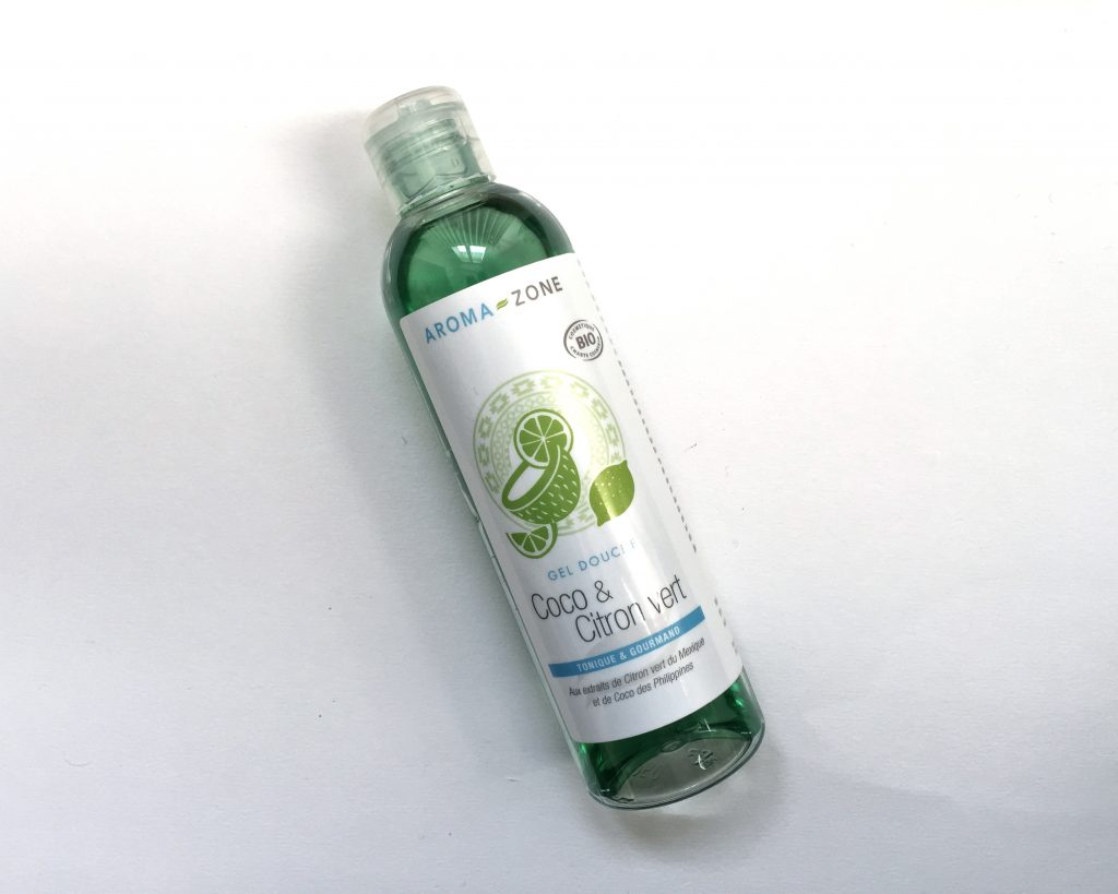 aroma zone gel douche coco citron vert
