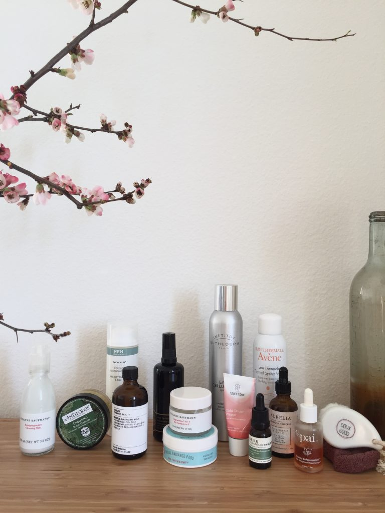 routine soin du visage the pretty cream susanne kaufmann antipodes ren skincare evolve beauty may lindstrom first aid beauty esthederm weleda avène océopin aurelia probiotic skincare pai skincare doux good les tendances d'emma