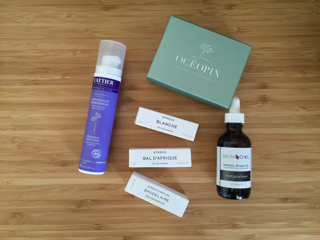Particules beauté #2 : Skin Owl, Byredo, Océopin, Cattier et Withings