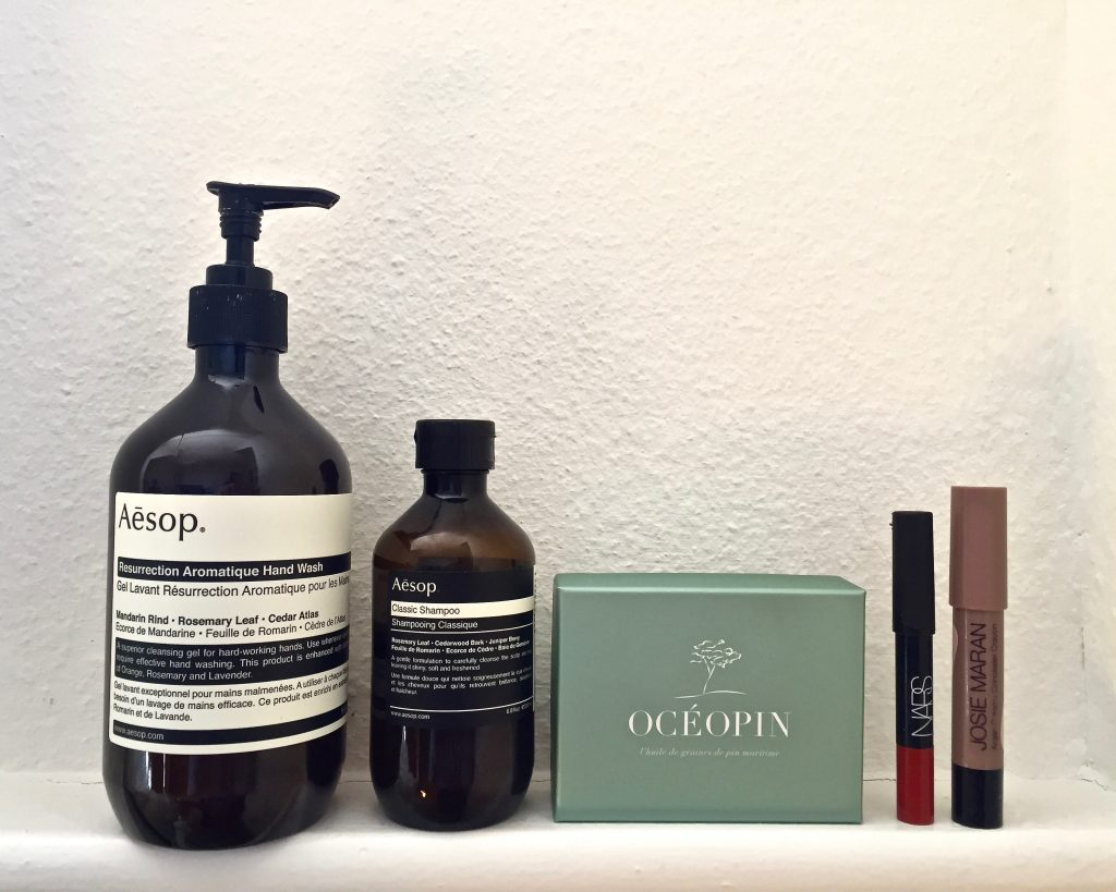 aesop oceopin nars josie maran the pretty cream