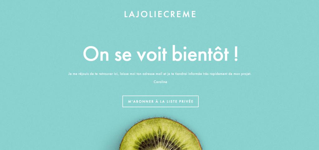 Un nouveau projet : La Jolie Crème