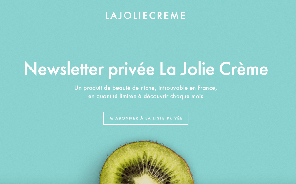 la jolie crème newsletter privée