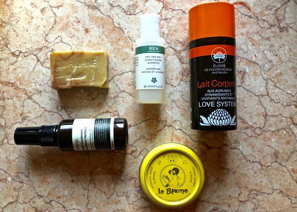 trousse beauté aesop daliane love system ren skincare feret parfumeur