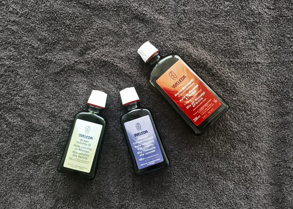 huile pour le corps weleda