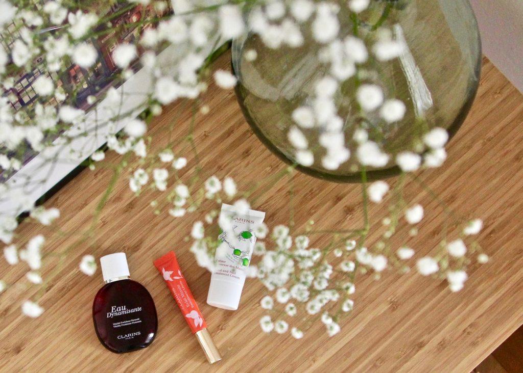 clarins eau dynamisante embellisseur lèvres crèmes mains