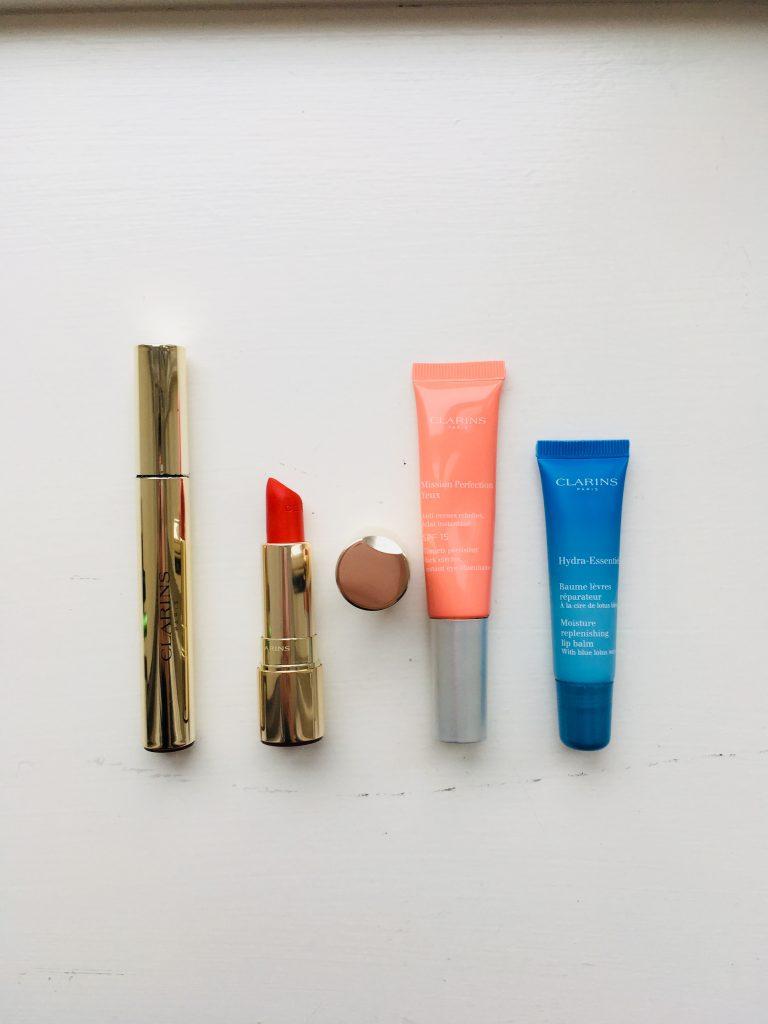 clarins mascara supra volume joli rouge velvet mission perfection baume lèvres réparateur test avis