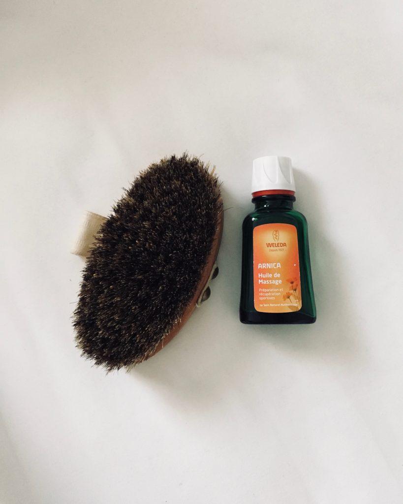 brossage à sec huile arina weleda test et avis