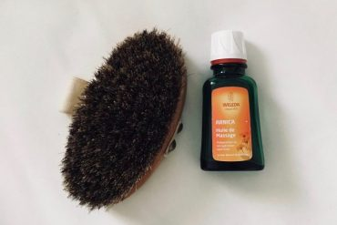 brossage à sec huile arnica weleda test et avis