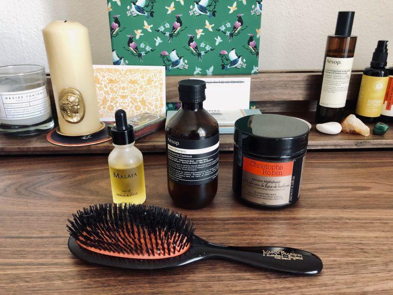 bain d'huile routine soin des cheveux malaya aesop christophe robin mason pearson test et avis